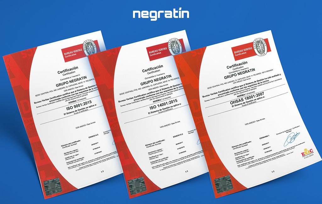 Certificados Negratín